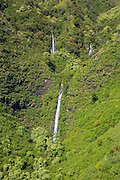 Waterfall, Kauai, aerial