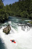 Whitewater kayaking on the White Salmon River, WA.
