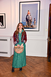 Ayesha Shand at Mark Shand's Adventures and His Cabinet Of Curiosities VIP private view, 32 Portland Place, London, England. 20 February 2018.