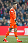 Manchester City goalkeeper Ederson (31) during the Premier League match between Crystal Palace and Manchester City at Selhurst Park, London, England on 14 April 2019.