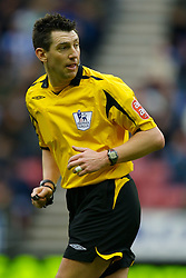 WIGAN, ENGLAND - Sunday, January 20, 2008: Referee Lee Probert during the Premiership match at the JJB Stadium. (Photo by David Rawcliffe/Propaganda)