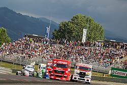 06.07.2013, Red Bull Ring, Spielberg, AUT, Truck Race Trophy, Renntag 1, im Bild Antonio Albacete, (ESP, Equipo Cepsa, #2), Anthony Janiec, (FRA, Anthony Janiec, #9), Markus Oestreich, (GER, Truck Sport Lutz Bernau, #4), Jochen Hahn, (GER, Castrol Team Hahn Racing, #1) // during the Truck Race Trophy 2013 at the Red Bull Ring in Spielberg, Austria, 2013/07/06, EXPA Pictures © 2013, PhotoCredit: EXPA/ M.Kuhnke