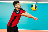 Katowice, Poland - 2017 September 02: Athlete Kadir Yildirim from SO Germany passes the ball while SO Germany versus SO Belarus during European Unified Volleyball Tournament 2017 at Spodek Hall on September 02, 2017 in Katowice, Poland.<br /> <br /> Adam Nurkiewicz declares that he has no rights to the image of people at the photographs of his authorship.<br /> <br /> Picture also available in RAW (NEF) or TIFF format on special request.<br /> <br /> Any editorial, commercial or promotional use requires written permission from the author of image.<br /> <br /> Image can be used in the press when the method of use and the signature does not hurt people on the picture.<br /> <br /> Mandatory credit:<br /> Photo by © Adam Nurkiewicz / Mediasport