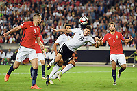 6:0 Tor v.l. Gustav Valsvik, Torschuetze Mario Gomez  (Deutschland), Jørrgen Skjelvik , Gustav Valsvik<br /> Stuttgart, 04.09.2017, Fussball, WM-Qualifikation,<br /> Tyskland - Norge <br /> <br /> Norway only