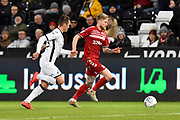 Hayden Coulson (33) of Middlesbrough on the attack during the EFL Sky Bet Championship match between Swansea City and Middlesbrough at the Liberty Stadium, Swansea, Wales on 14 December 2019.