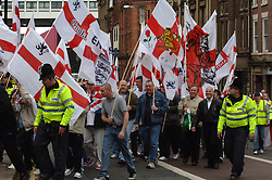 National Front march through Newcastle; 30 April 2006 UK
