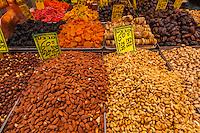 Nuts, Mahane Yehuda Market, Jerusalem, Israel.