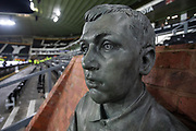 Bust of Steve Bloomer at Pride Park before the EFL Sky Bet Championship match between Derby County and Sheffield Wednesday at the Pride Park, Derby, England on 11 December 2019.
