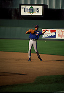 June 27th 1998 Kansas City, MO.Mark Grace warms up before an interleague game at PHOTO BY CHRIS MACHIAN