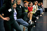 """Lupita Hernandez dances with other parents during rehearsals for a show at the National Dance Institute of New Mexico. The performance this spring featured students and their parents on the same stage. .. """"I left everything there (in Mexico), my family, my job. I had a whole other life there."""".."""