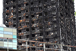 UK ENGLAND LONDON 14JUL17 - Views of the burnt-out shell of Grenfell Tower in north Kensington, west London, one month after the disaster that left over 80 people dead.<br /> <br /> jre/Photo by Jiri Rezac<br /> <br /> © Jiri Rezac 2017