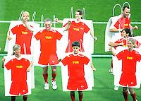 FUSSBALL EUROPAMEISTERSCHAFT 2008  Deutschland - Spanien    29.06.2008 Szene aus der Schlussfeier der Euro 2008.
