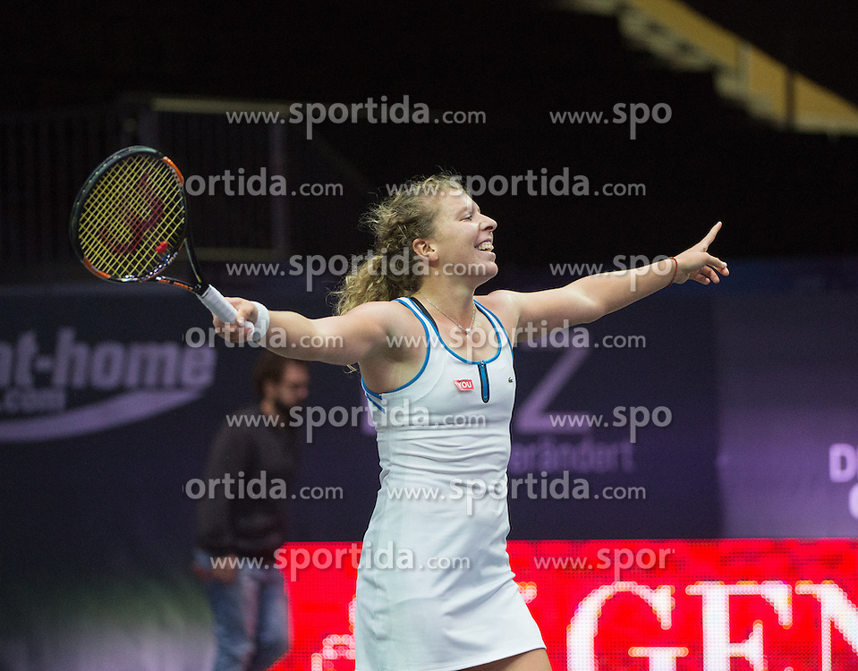 17.10.2015, TipsArena, Linz, AUT, WTA, Generali Ladies Linz, Semifinale, im Bild Anna-Lena Friedsam (GER) // Anna-Lena Friedsam of Germany during WTA Generali Ladies Linz, Tournament semifinals at the TipsArena, Linz, Austria on 2015/10/17, EXPA Pictures © 2015, PhotoCredit: EXPA/ Reinhard Eisenbauer