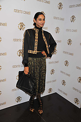 HANNAH BHUIYA at a party hosted by Roberto Cavalli to celebrate his new Boutiques's opening at 22 Sloane Street, London followed by a party at Battersea Power Station, London SW8 on 17th September 2011.