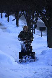 Snow walk in Masterson Station Neighborhood, Wednesday, Feb. 18, 2015 at The Station in Lexington.