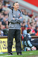 Blackpool Caretaker Manager Tony Parkes<br /> Charlton Athletic vs Blackpool at The Valley, Charlton.<br /> Coca Cola Championship. 18/04/2009<br /> Credit Colorsport / Shaun Boggust