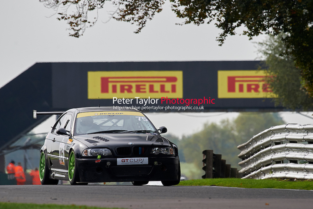 #75 Mike MOSS BMW E46 M3 during GT Cup - Qualifying as part of the MSVR Oulton Park 10th October 2015 at Oulton Park, Little Budworth, Cheshire, United Kingdom. October 10 2015. World Copyright Taylor/PSP. Copy of publication required for printed pictures.  Every used picture is fee-liable. http://archive.petertaylor-photographic.co.uk