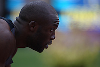 LaShawn Merritt looks on before his heat of the 400m dash during day 1 of the U.S. Olympic Trials for Track & Field at Hayward Field in Eugene, Oregon, USA 22 Jun 2012..(Jed Jacobsohn/for The New York Times).
