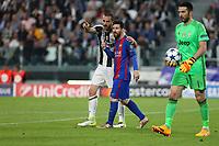 can - 14.03.2017 - Torino - Champions League Quarti di Finale  -  Juventus-Barcellona nella  foto: Leonardo Bonucci e Lionel Messi