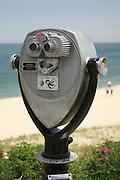 Coin-operated binoculars overlook the Atlantic Ocean, Chatham, Massachusetts.
