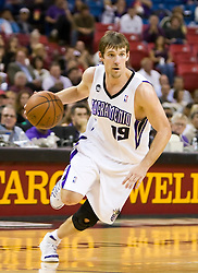 November 8, 2009; Sacramento, CA, USA;  Sacramento Kings guard Beno Udrih (19) during the third quarter against the Golden State Warriors at the ARCO Arena. The Kings defeated the Warriors 120-107.