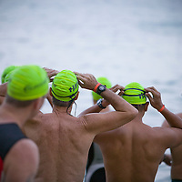Start of swim portion of Honolulu Triathalon