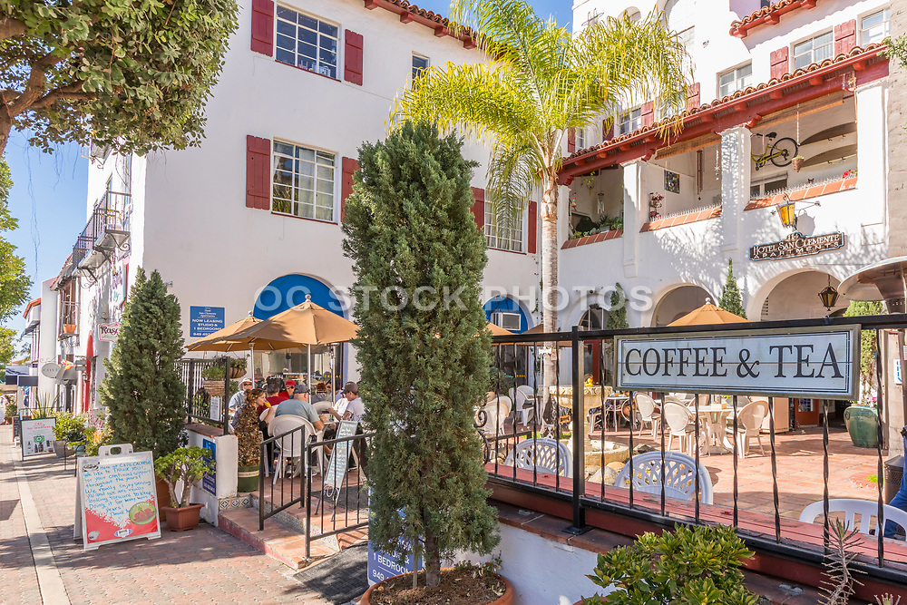 Courtyard at Cafe Calypso in Downtown San Clemente