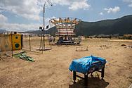 Norcia, Italia - Un parco giochi in disuso all'ingresso del paese di Norcia.<br /> Ph. Roberto Salomone