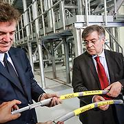 Flavio Cattaneo, AD Terna, Flavio Zanonato,  Ministro dello sviluppo economico.<br /> Centrale elettrica Terna di Piossasco (TO) avvio cantiere nuova linea elettrica di collegamento Italia-Francia, denominata 'Piemonte-Savoia'.