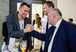 Jasmin Handanovic, Milivoje Novakovic and Radenko Mijatovic during SPINS XI Nogometna Gala 2017 event when presented best football players of Prva liga Telekom Slovenije in season 2016/17, on May 23, 2017 in Grand hotel Union, Ljubljana, Slovenia. Photo by Vid Ponikvar / Sportida