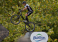 The London Trials Championships presented by Buxton taking place in The Green Park Festival Zone. The Prudential RideLondon FreeCycle. Saturday 28th July 2018<br /> <br /> Photo: Jed Leicester for Prudential RideLondon<br /> <br /> Prudential RideLondon is the world's greatest festival of cycling, involving 100,000+ cyclists - from Olympic champions to a free family fun ride - riding in events over closed roads in London and Surrey over the weekend of 28th and 29th July 2018<br /> <br /> See www.PrudentialRideLondon.co.uk for more.<br /> <br /> For further information: media@londonmarathonevents.co.uk