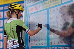 Doris Schweizer (Cylance Pro Cycling) - Tour of Chongming Island 2016 - Stage 1. A 139.8km road race on Chongming Island, China on May 6th 2016.