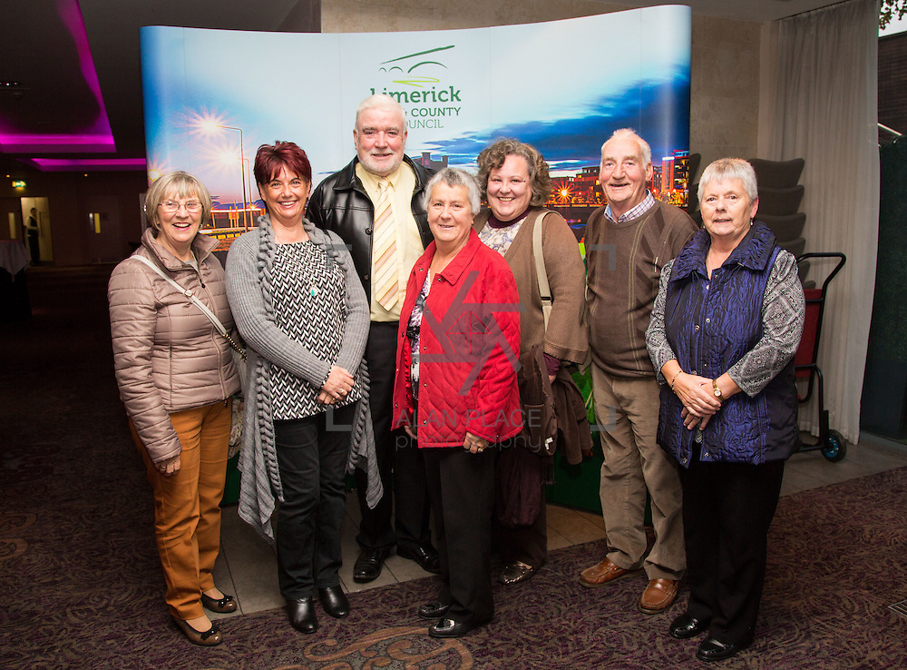 11.10.2016        <br /> Pictured at the Grand Final of the Limerick Going for Gold 2016 Awards were, Maura Thompson, Patricia Carroll, Sam Milburn, Rita Maddigan, Eleanor O'Doherty, Maurice Carmody and Anne Marie Foley. Picture: Alan Place