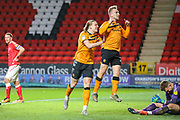 Hull City forward Jarrod Bowen (20) celebrates after scoring a goal (1-1) during the EFL Sky Bet Championship match between Charlton Athletic and Hull City at The Valley, London, England on 13 December 2019.