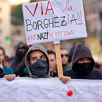 Corteo antifascista contro CasaPound e Mario Borghezio