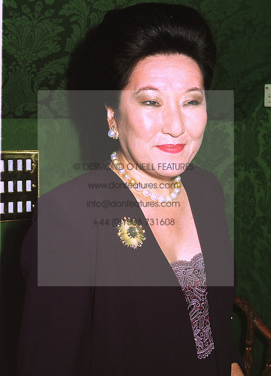 MISS HARUKO FUKUDA a very influentual Japanese business woman, at an exhibition in London on 14th July 1998.MJB 16