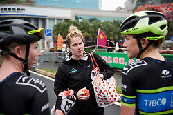 Team TIBCO - Silicon Valley Bank regroup after GREE Tour of Guangxi Women's WorldTour 2019 a 145.8 km road race in Guilin, China on October 22, 2019. Photo by Sean Robinson/velofocus.com