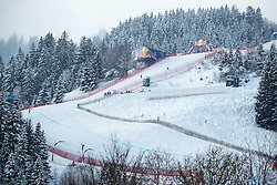 17.01.2017, Hahnenkamm, Kitzbühel, AUT, FIS Weltcup Ski Alpin, Kitzbuehel, Abfahrt, Herren, Streckenbesichtigung, im Bild Übersicht auf die Hausbergkante // Overview of Hausberg during the course inspection for the men's downhill of FIS Ski Alpine World Cup at the Hahnenkamm in Kitzbühel, Austria on 2017/01/17. EXPA Pictures © 2017, PhotoCredit: EXPA/ Johann Groder