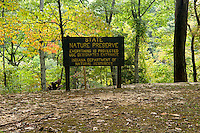 State Nature Preserve Sign at Clifty Falls State Park, Indiana