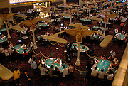Interior of the recently opened Grand Waldo casino in Macau. This casino is owned by the Hong Kong based Galaxy Entertainment Group.<br />