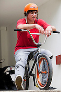 BMX Cycling, Young Men, Biker, Contemplation,