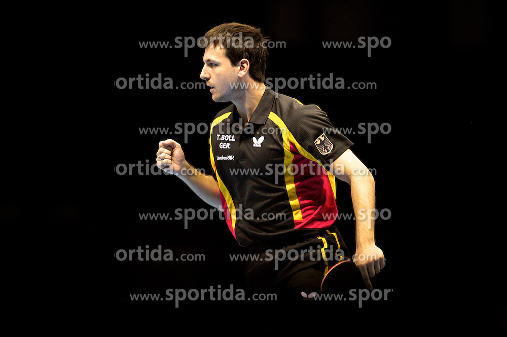 Olympics - London 2012 Olympic Games - 8/8/12.Table Tennis - Men's Team - Germany's.Timo Boll (GER).© pixathlon