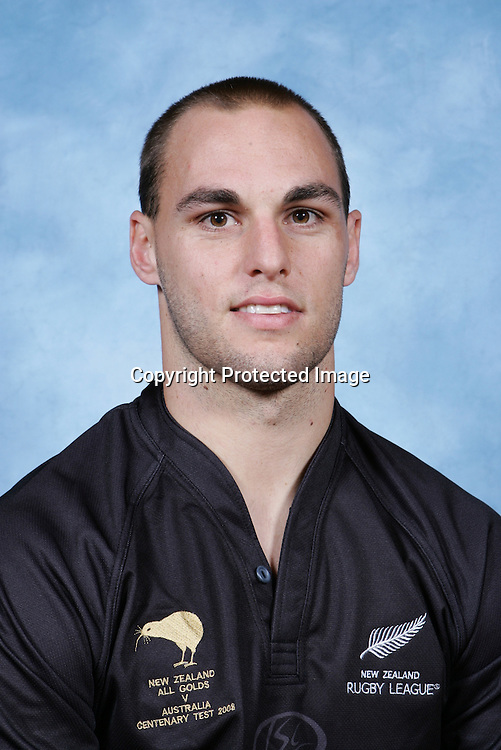Simon Mannering. NZRL Kiwis headshots ahead of the Centenary rugby league Test match.  Sydney, Australia. 5 May 2008. Photo: Melba Studios/PHOTOSPORT