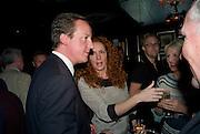 DAVID CAMERON; Rebekah Wade<br /> Book launch for Citizen by Charlie Brooks. Tramp. London. 1 April 2009.