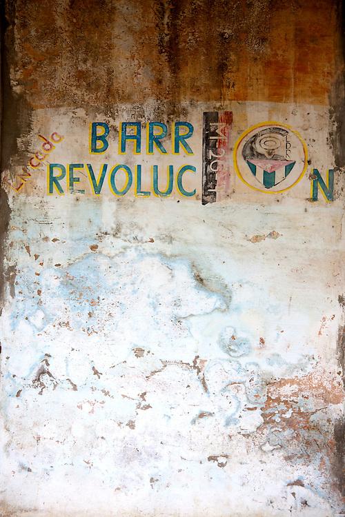 Revolutionary sign in San Andres, Holguin, Cuba.