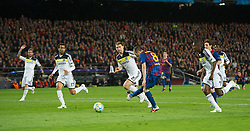 24.04.2012, Stadion Camp Nou, Barcelona, ESP, UEFA CL, Halblfinal-Rueckspiel, FC Barcelona (ESP) vs FC Chelsea (ENG), im Bild FC Barcelona's Andres Iniesta scores the second goal against Chelsea during the UEFA Championsleague Halffinal 2st Leg Match, between FC Barcelona (ESP) and FC Chelsea (ENG), at the Camp Nou Stadium, Barcelona, Spain on 2012/04/24. EXPA Pictures © 2012, PhotoCredit: EXPA/ Propagandaphoto/ David Rawcliff..***** ATTENTION - OUT OF ENG, GBR, UK *****