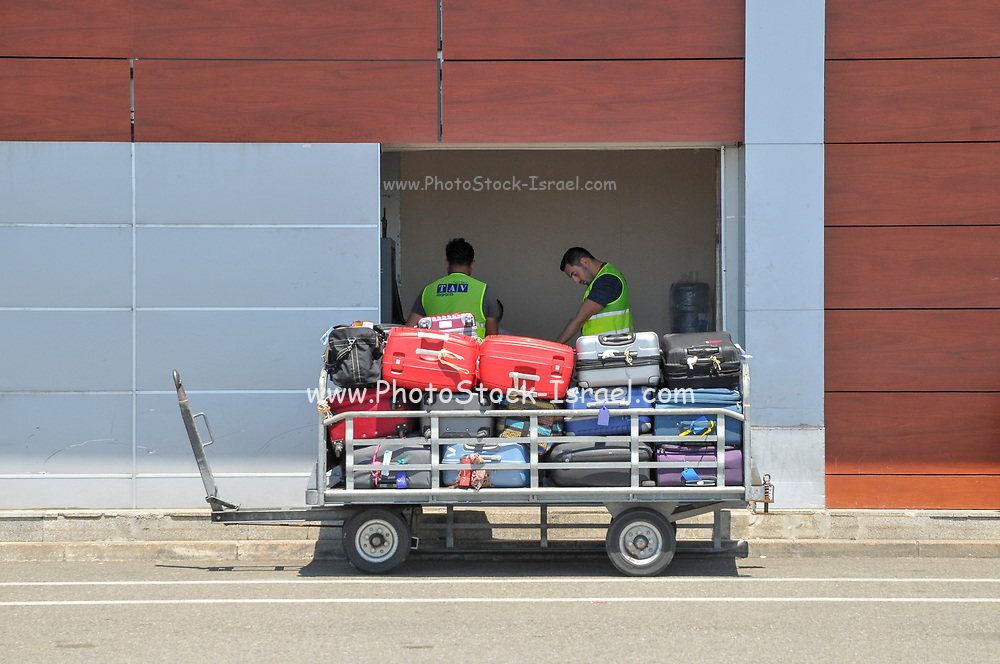 Baggage handling at Batumi international airport, Georgia