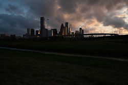 Houston, Texas skyline at dusk.