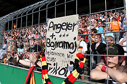 03.06.2011, Osnatel Arena, Osnabrueck, GER, WM 2012 FSP,  Deutschland (GER) vs Italien (ITA), .im Bild deutsche Fans fragen per Plakat nach den Trikots von Angerer und Bajramaj  during the WM 2011 Friendly Game, Germany vs Italy, at Osnatel Arena, Osnabrück, 2011-06-03, .EXPA Pictures © 2011, PhotoCredit: EXPA/ nph/  Hessland       ****** out of GER / SWE / CRO  / BEL ******