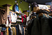 Outdoor clothing and accessories on display inside Hive of Madison on Monroe Street in Madison, Wisconsin, Friday, Nov. 23, 2018.